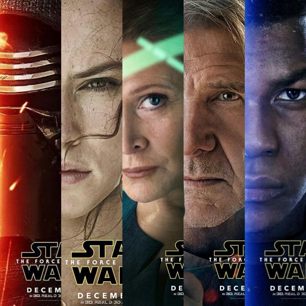Los posters de los personajes de El Despertar de la Fuerza
