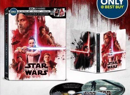 Este es el formato domestico de Los Últimos Jedi en Blu-Ray y 4K